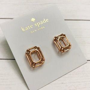 Kate Spade Freeze Frame Rose Gold Earrings NWT